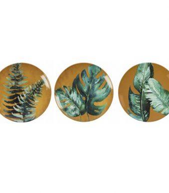 Assiettes-murales-Yana-Moutarde